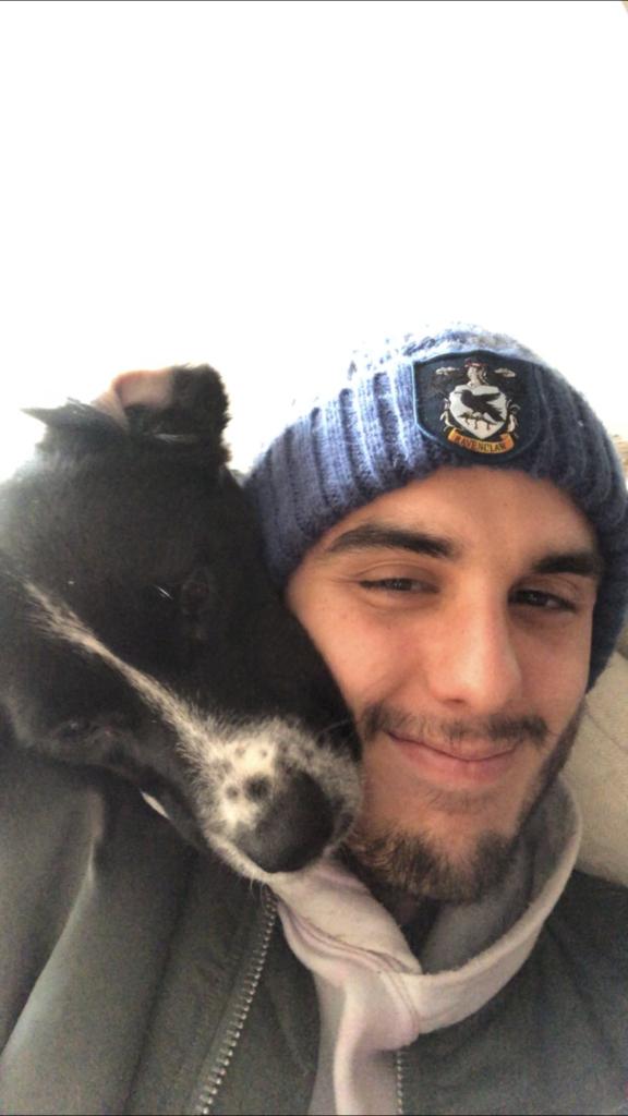 CARLOS WITH DOG